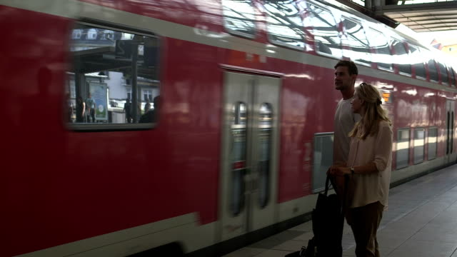 Couple at station