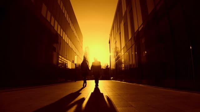 HD-SLOW-MOTION: Paar bei Sonnenuntergang