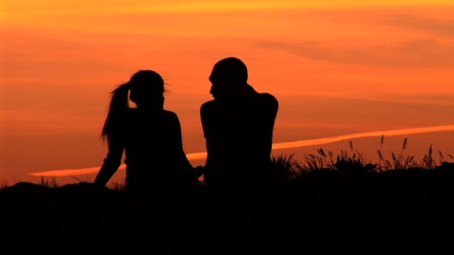 Image result for couple silhouette sitting