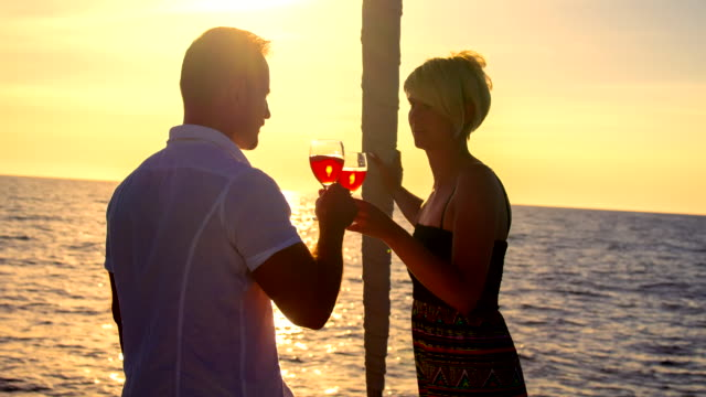 MS Couple Drinking Wine On A Sailboat