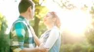 Couple enjoy in love
