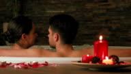 Couple enjoying hydrotherapy