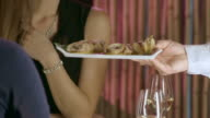 HD DOLLY: Couple Enjoying Romantic Fine Dining