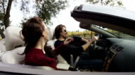 Couple in Convertible in Wine Country