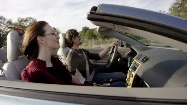 Couple in Convertible