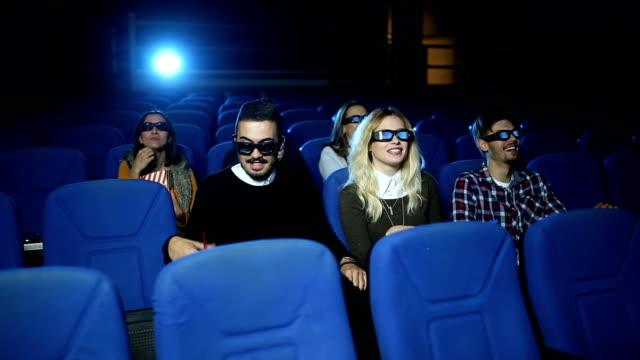 Couple in love in cinema