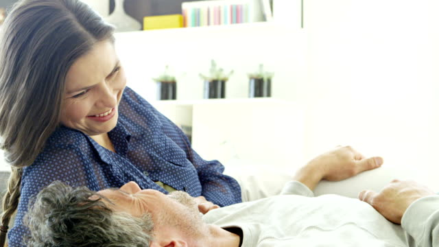 Couple in modern home