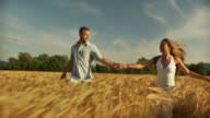 HD SLOW-MOTION: Couple In Wheat