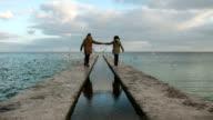 Couple near the sea