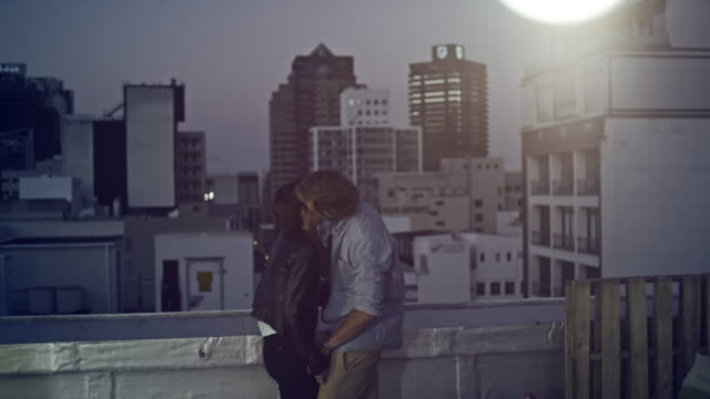 Couple on rooftop