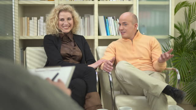 HD: Couple Reconciling During Counseling Session