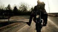 Couple Riding Motor Bike