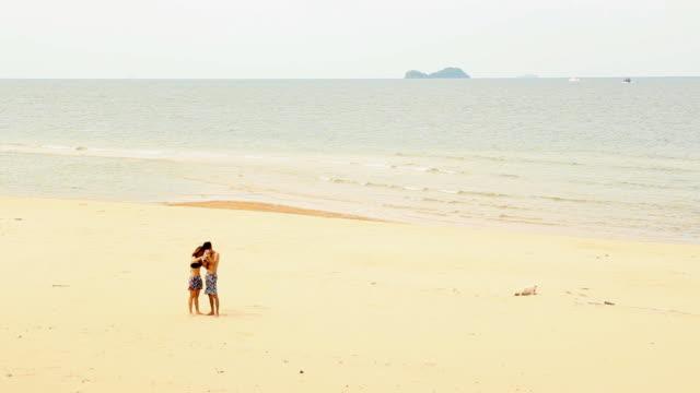 Couple Self Portrait On The Beach