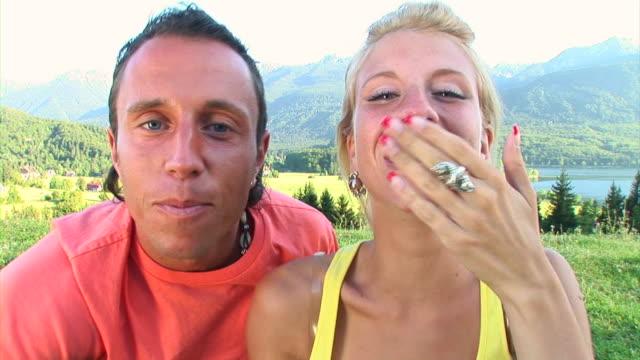 HD: Couple Sending Kisses