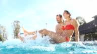 HD SUPER SLOW-MO: Couple Splashing Water