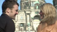 CU Couple talking infront of Berlin cathedral / Berlin, Germany