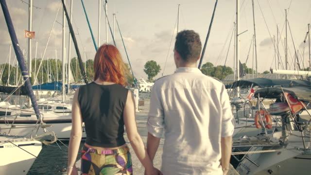 Couple Walking at the Marina