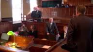 4K: Court hearing - Barrister / Lawyer questions Witness