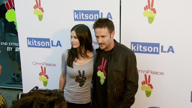Courteney Cox and David Arquette at the OmniPeace Launch Party Hosted by Courteney Cox at Kitson Men in Los Angeles California on June 21 2007