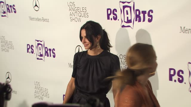 Courteney Cox at the 15th Annual Los Angeles Antiques Show 2010 at Santa Monica CA