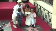 Courtney B Vance Angela Bassett and family at the Dedication of Angela Bassett's Star on March 20 2008