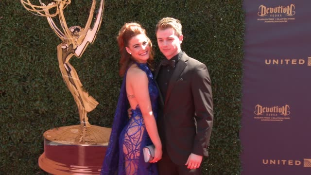 Courtney Hope and Chad Duell at the 44th Annual Daytime Emmy Awards at Pasadena Civic Auditorium on April 30 2017 in Pasadena California
