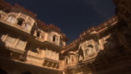 Courtyard walls in Mehrangarh Fort. Available in HD.