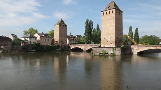 Couverts Bridge (Ponts Couverts), Towers over the river Ill   , Strasbourg, France