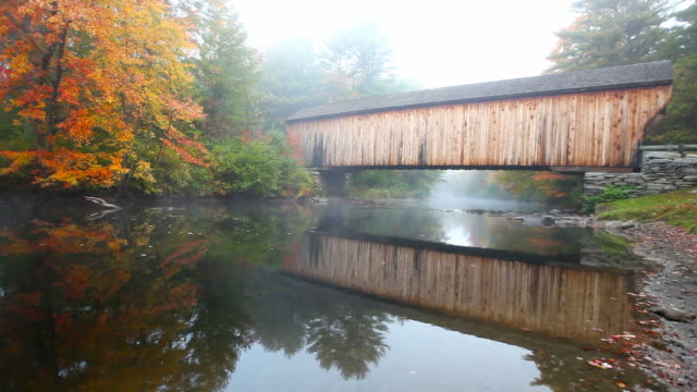 Covered Bridge in rural New Hampshire