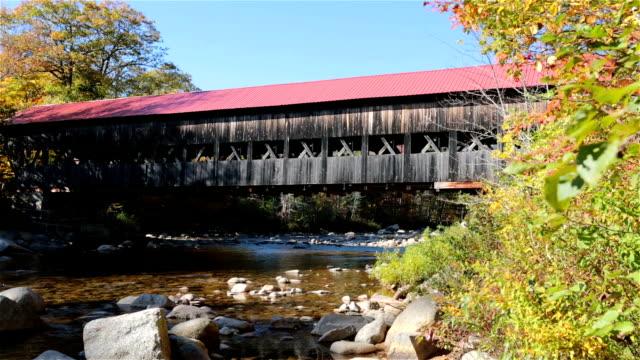 Covered Bridge, New Hampshire, Usa