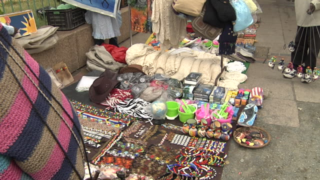 Craft stalls at outdor market Available in HD.