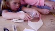 Craftwork with her Children