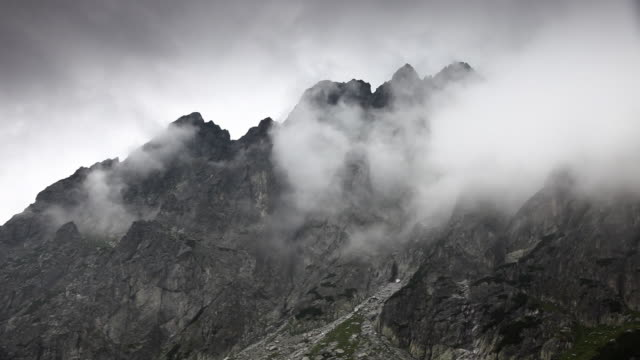 Cragged mountain peaks