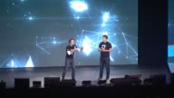 SPEECH Craig Kielburger and Marc Kielburger welcome audience and work up the crowd at WE Day UN at Madison Square Garden on September 20 2017 in New...