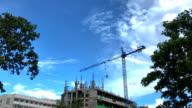 Crane is building.