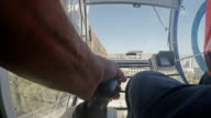 Crane Opearator's hand