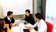 Crane shot: Business Meeting