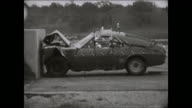 1969 AMC AMX crash test footage - 1 passenger