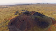 AERIAL Crater of a volcano