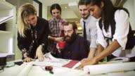 Creative architect at work in studio