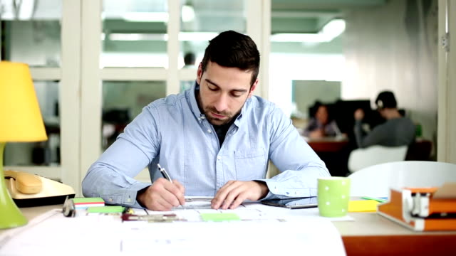 creative man at work in the office stock footage video getty images