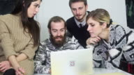 Creative team briefing at work