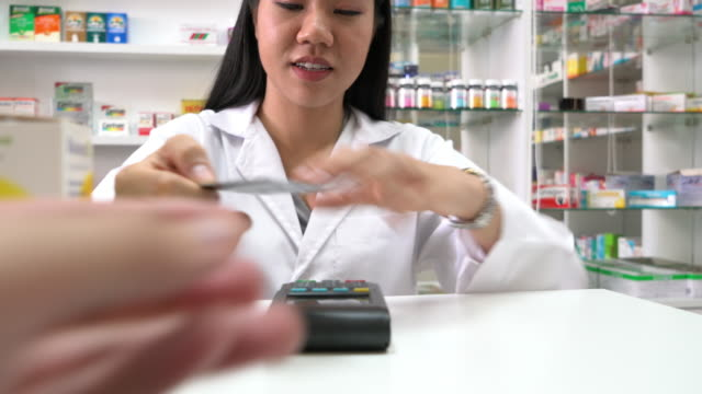Credit card payment in drug store