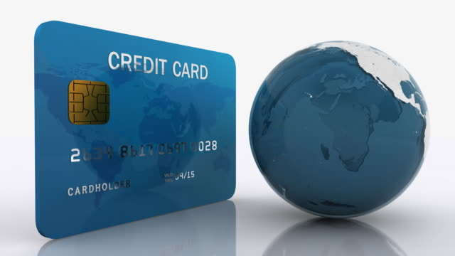 Credit Card with Earth Globe