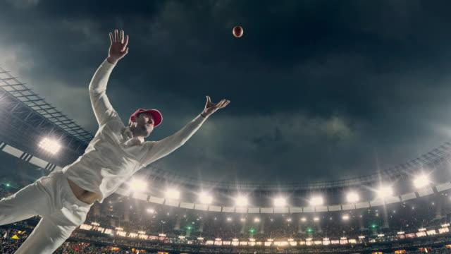 Cricket batsman op het stadion