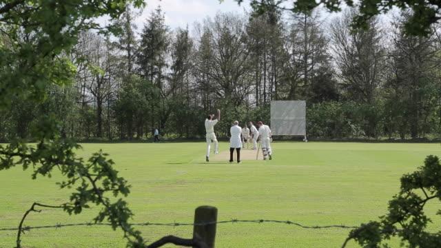 Cricket Match in Baslow Village, Derbyshire, England, UK, Europe