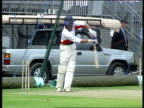 Nasser Hussain new England captain LIB ENGLAND London Nasser Hussain training in nets