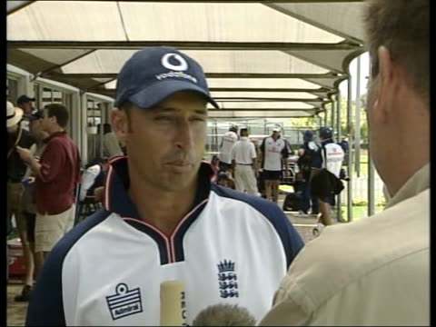 Cricket World Cup Nasser Hussain defends Zimbabwe decision ITN SOUTH AFRICA EXT England cricketers in training 2SHOT Nasser Hussain interviewed SOT...