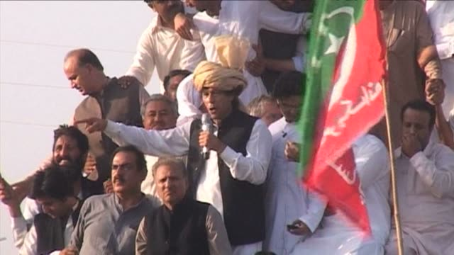 Cricketer turned politician Imran Khan claims victory at the end of his march against US drone strikes despite failing to reach his intended...