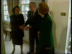 General Pionchet Lawyers Challenge Extradition Ruling LIB ENGLAND Surrey Wentworth General Augusto Pinochet and wife greeting Lady Thatcher Thatcher...